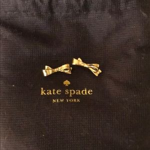 NWOT Kate Spade gold bow earrings